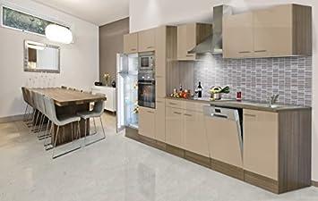 respekta Einbau Küche Küchenzeile Küchenblock 370 cm Eiche York ...