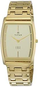 Titan Edge 1044YM07 Analog White Dial Gold Watch for Men