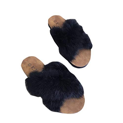 Pantoufles Pantoufles pour Femme pour YUCH YUCH Black tB6Sx