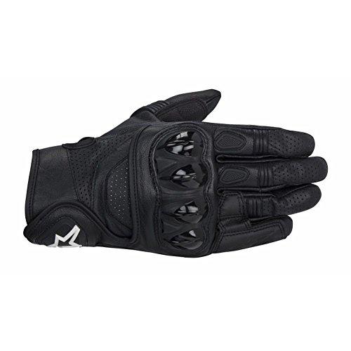 Alpinestars Celer Men's Leather Street Racing Motorcycle Gloves - Black / Small