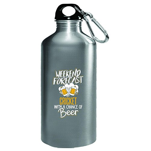 Gift For Cricket Beer Lovers Weekend Forecast Present - Water Bottle by My Family Tee