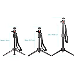 Neewer® Pro (Pro Version of Neewer Product) 14.2 inch/36 cm Aluminium Alloy KT-200 Table Top Tripod for GoPro 1,2,3,3+,4, Smartphone, Interchangeable Lens Digital Camera, and Most DSLR Cameras with 1/4\