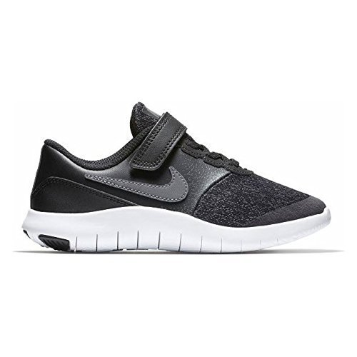 Image of NIKE Kids Flex Contact (PSV) Shoes Black Dark Grey Anthracite White Size 2.5