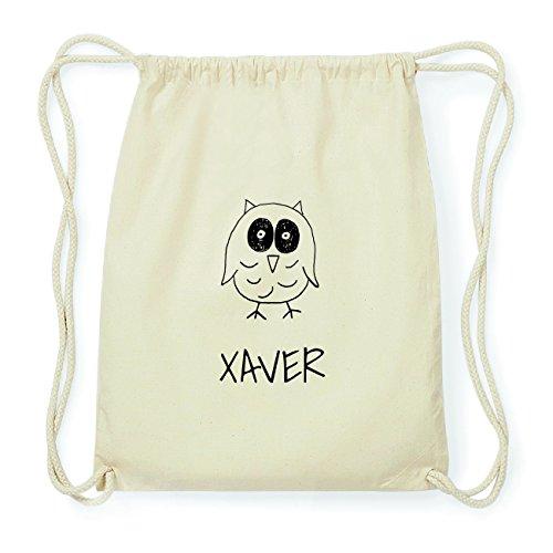 JOllipets XAVER Hipster Turnbeutel Tasche Rucksack aus Baumwolle Design: Eule