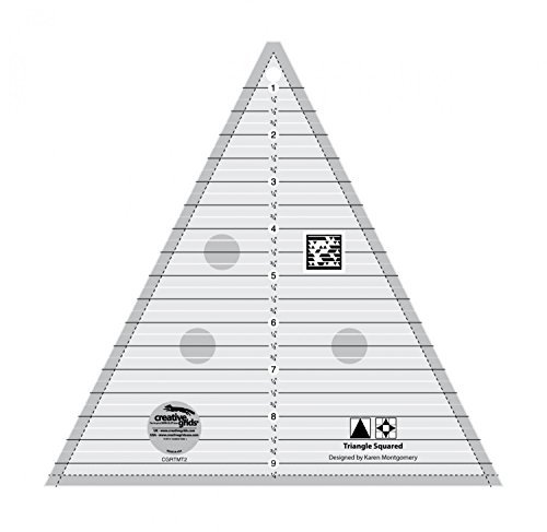 Creative Grids 9.5'' Triangle Squared Quilting Ruler Template CGRTMT2 by Creative Grids