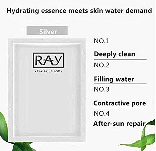 RAY Facial Mask 1 Box / 10 Piece Import From Thailand (SLIVER) (Best Things Import Thailand)
