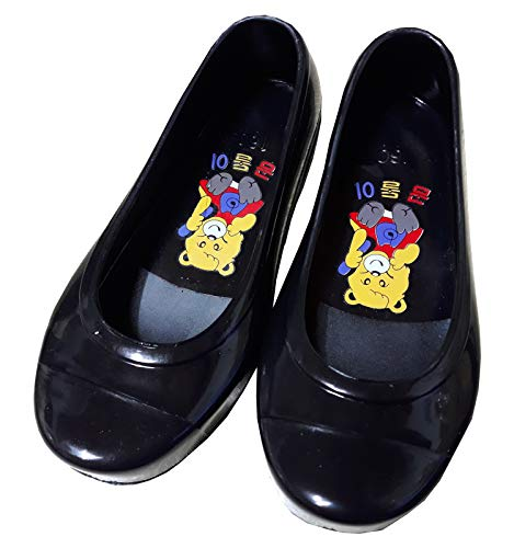 Hanbok store Kids Rubber Shoes Babies Girls Boys Juniors Flexible Korea Traditional GOMUSIN Comfortable Black (130mm (US ()