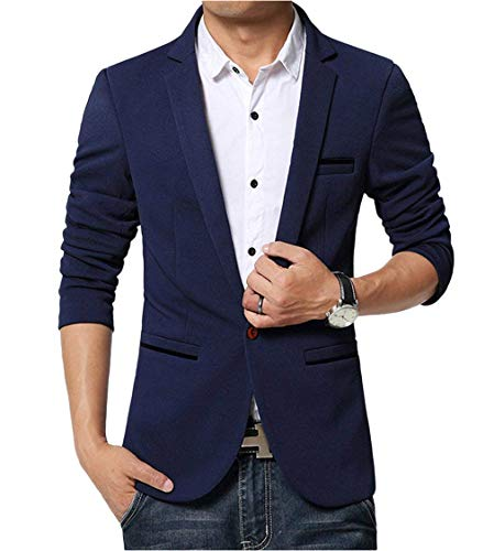 Manica Casual Men Hellblau Suit Slim Leisure Skinny Button 1 Lunga Business Elegante Risvolto Uomo Blazer Huixin Fit Da qTaYxZ