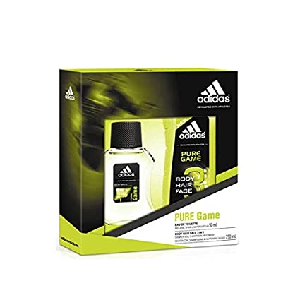Estuche Adidas Pure Game EDT 50ml + Gel 250ml: Amazon.es ...