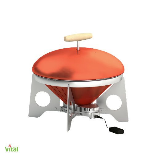 VitalGrill Gourmet BBQ Grill, Red/Silver