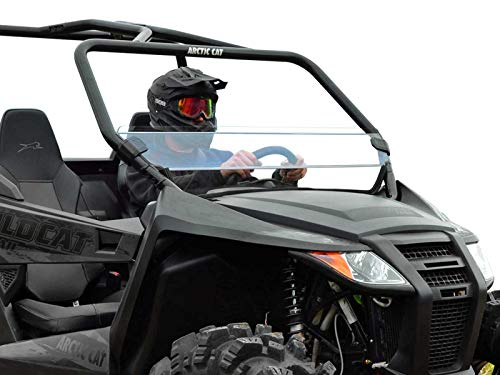 (SuperATV Heavy Duty Scratch Resistant Half Windshield for Arctic Cat Wildcat Trail Sport (2015+) - Hard Coated for Extreme Durability and Long Life!)