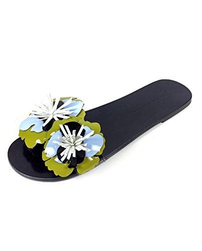 Zara Femme Mules à fleurs 6662/201 (36 EU   6 US   3 UK)