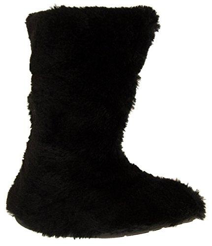 Miniplush Fausse Bottes Noir Filles Mous Pantoufless De Fourrure Fonseca 154BqB