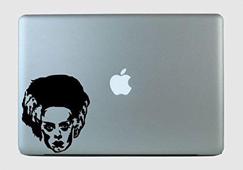 Frankenstein Bride Face Vinyl Decal Sticker Glitter -