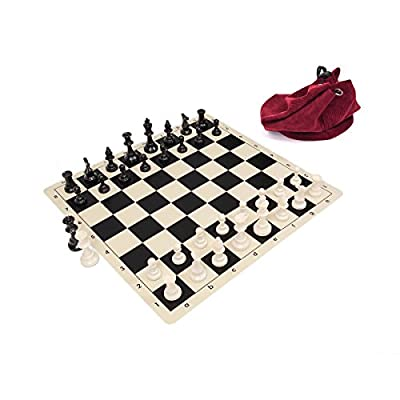Wholesale Chess Triple Weighted Staunton Silicone Set - Black
