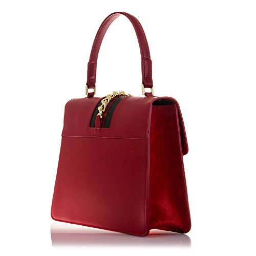 FIRENZE ARTEGIANI.Bolso de mujer piel auténtica.Bolso de mano mujer cuero genuino acabado Ruga.Laterales Gamuza.Cierre exclusivo. MADE IN ITALY. VERA PELLE ITALIANA. 28x23x9,5 cm. Color: TAUPE ROJO