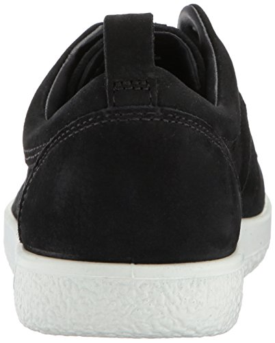 ECCO Womens Womens Soft 1 Fashion Sneaker Black Nubuck ckigw9Z8O