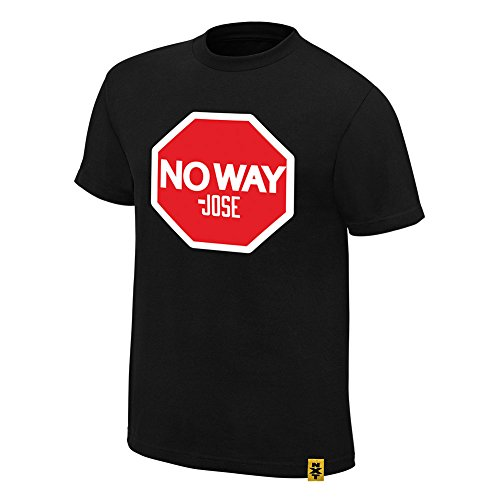 WWE No Way Jose Stop Authentic T-Shirt Black Medium