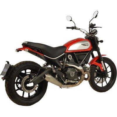 15-18 Ducati SCRAMICN: Leo Vince GP Style Slip-On Exhaust (Stainless Steel) ()
