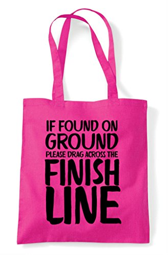 Across On Tote Ground Line Fuschia Bag Drag Please If The Finish Found Shopper O1XwqwH