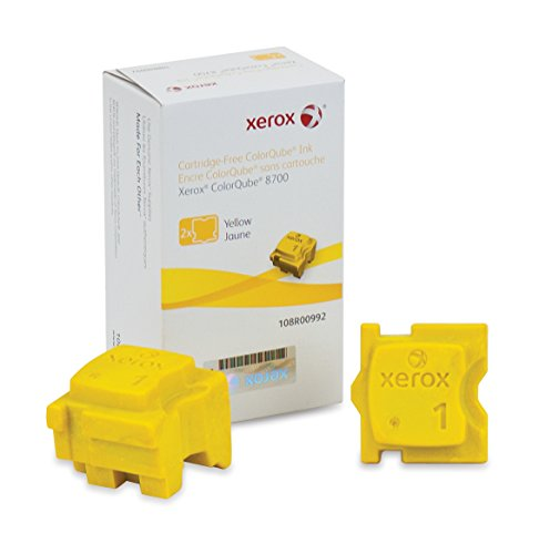 Genuine Xerox Yellow Solid Ink Sticks for the Xerox ColorQube 8700 (2 pcs/Box), 108R00992