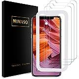 【3枚セット】Nimaso iPhoneXS Max 6.5 インチ 用 強化ガラス液晶保護フィルム【ガイド枠付き】 【日本製素材旭硝子製】(アイフォン xs max用)