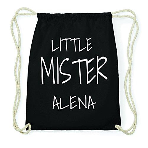 JOllify ALENA Hipster Turnbeutel Tasche Rucksack aus Baumwolle - Farbe: schwarz Design: Little Mister ThIn6