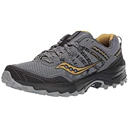 Saucony Men's Grid Excursion TR12 Trail Running Shoe Silver/Gold 14 M US