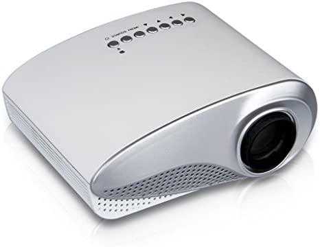 Excelvan RD-802 – Mini Proyector portátil HD Home Cinema (60 lúmenes, resolución 480x320, conexión HDMI/AV/USB/VGA/SD) con altavoces incorporados, ...