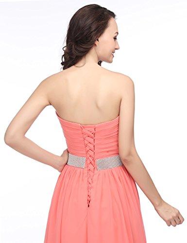 Abschlusskleider Chiffon Asymmetrisch Abendkleid Clearbridal Cocktailkleid Bandeau Ballkleid Damen CSD400 Weinrot S5qqYwf