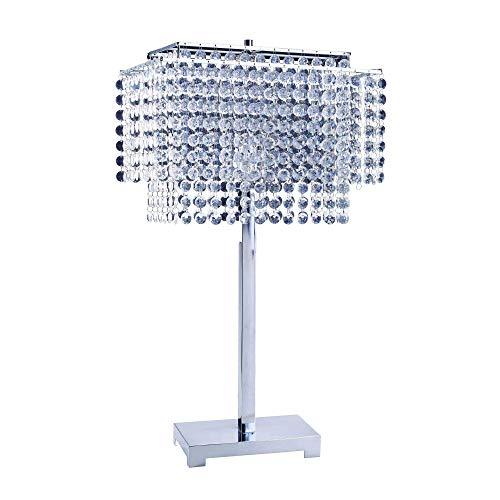 ORE International 732 28-Inch Crystal Strings Table Lamp ()