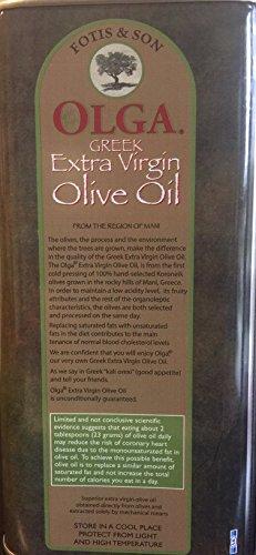 Greek Extra Virgin Olive oil Olga Brand 3 liter by Olga Extra Virgin Olive oil (Image #1)'