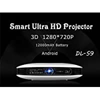 S-9 200 Entertainment Multimedia 1080P Wi-fi 3D DLP Projector 1000 Lumens Portable Home Theatre Mini Projector with Android 4.4.2