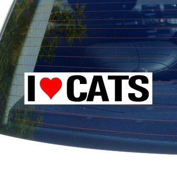 Love Heart CATS Window Sticker