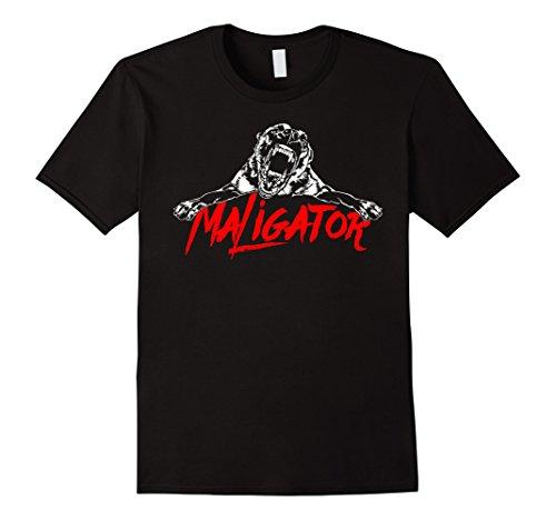 Mens Maligator Belgian Malinois Hund fun TEE Shirt T-Shirt gift Large Black