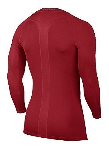 rouge De Rouge Pro Manches Cool Compression Maillot Nike Université blanc Longues Sportif Homme aO6HFqFnw