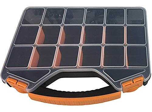 Heavy Duty Storage Box & Organizer with 18 Adjustable Compartments