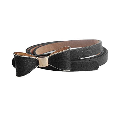(HankuWomen Candy Color Wild Bow Decoration Waistband Leather Belt (B) )