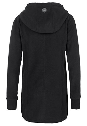 Sublevel Damen Micro Fleece Mantel   Lange Fleece-Jacke mit Kapuze   Warme  Übergangsjacke Black XL  Amazon.de  Bekleidung 82aaa029ab