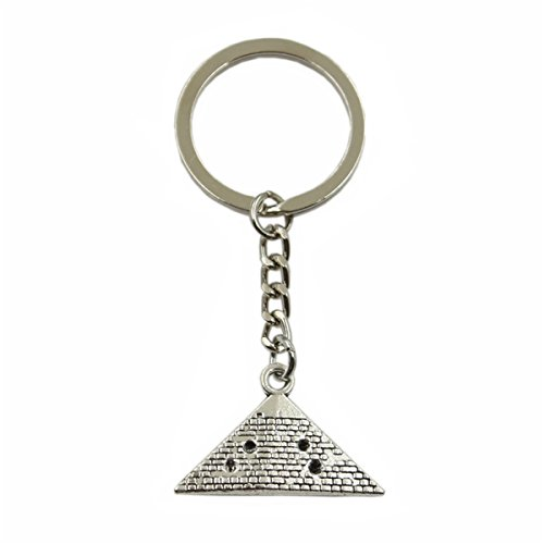 Hot Sales Egypt Pyramid 20x32mm Pendant Silver Keychain Key Ring Metal Key Chain Jewelry - Silver Key Egypt