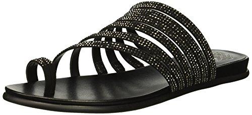 Vince Camuto Women's EDWINNY Flat Sandal, Black, 9 M US ()