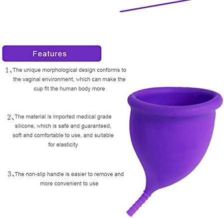 Copa menstrual, silicona médica, gran capacidad, reutilizable ...