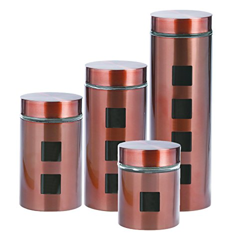 Stainless Steel Canister Set by Store'n Style W/ Clear Glass