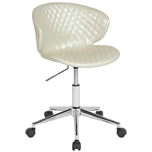 - ERGONOMIC HOME Cambridge Home and Office UPHOLSTERED MID-Back Chair in Ivory Vinyl