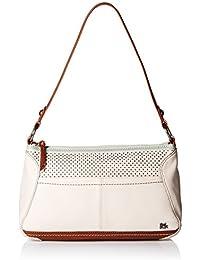 Iris Small Hobo Bag, Stone Perforated