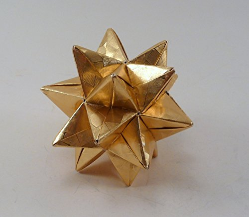 Small Christmas Ornament, Origami Star, Chistmas Star, Gold Star Ornament, Origami Ornament ()