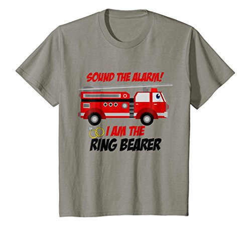 Kids Ring Bearer Outfit - Sound The Alarm Fire Truck Wedding Gift