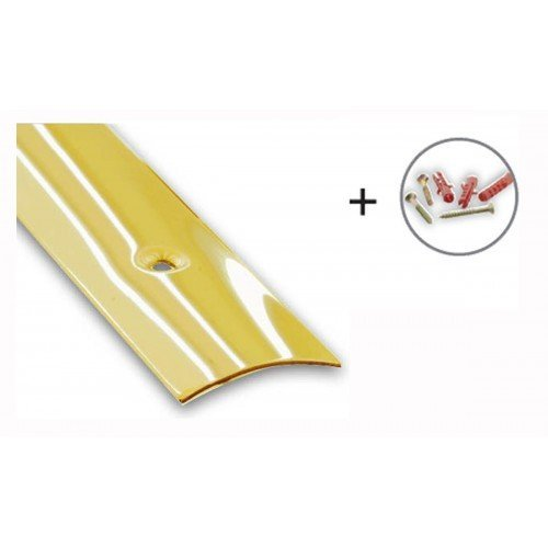 Brass Plated Flooring/Carpet Threshold Strip - 30mm x 830mm CQFD