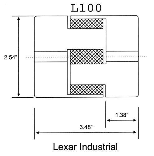 3//4 to 1 L100 Flexible 3-Piece L-Jaw Coupling Coupler Set /& NBR Rubber Spider