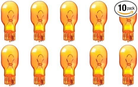 Box of 10 Bulbs W2.1x9.5d Base 12.8 V Amber 12.8 W CEC Industries #912NA T-5 shape